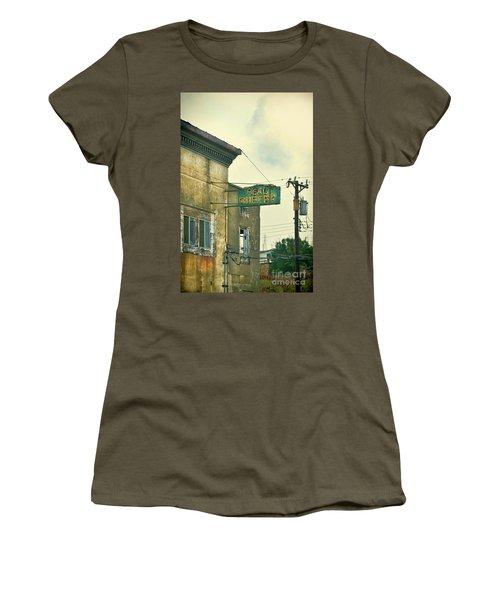Women's T-Shirt (Junior Cut) featuring the photograph Abandoned Building by Jill Battaglia