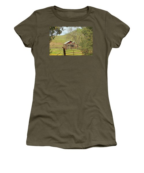 Women's T-Shirt (Junior Cut) featuring the photograph Abandoned Homestead by Art Block Collections