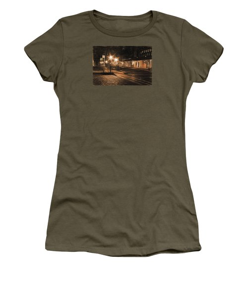 Women's T-Shirt (Junior Cut) featuring the photograph Abandoned Street by Michael Cleere