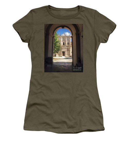 Abbey Of The Holy Spirit At Morrone In Sulmona, Italy Women's T-Shirt
