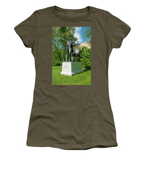 Women's T-Shirt (Junior Cut) featuring the photograph Abe Hanging Out by Greg Fortier
