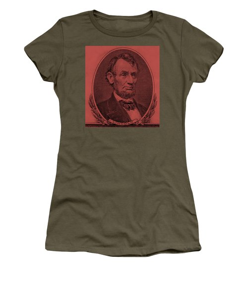 Women's T-Shirt (Athletic Fit) featuring the photograph Abe On The 5 Peach by Rob Hans