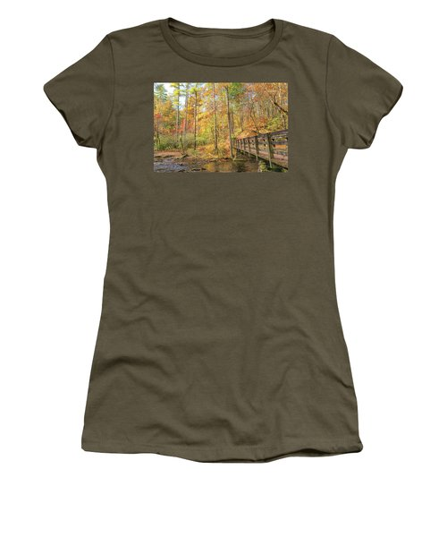 Abrams Falls Trailhead Women's T-Shirt (Athletic Fit)