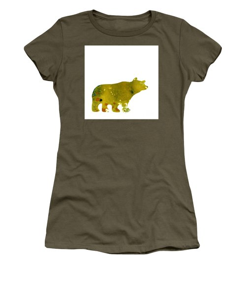 Abstract Acrylic Painting Bear II Women's T-Shirt (Junior Cut) by Saribelle Rodriguez