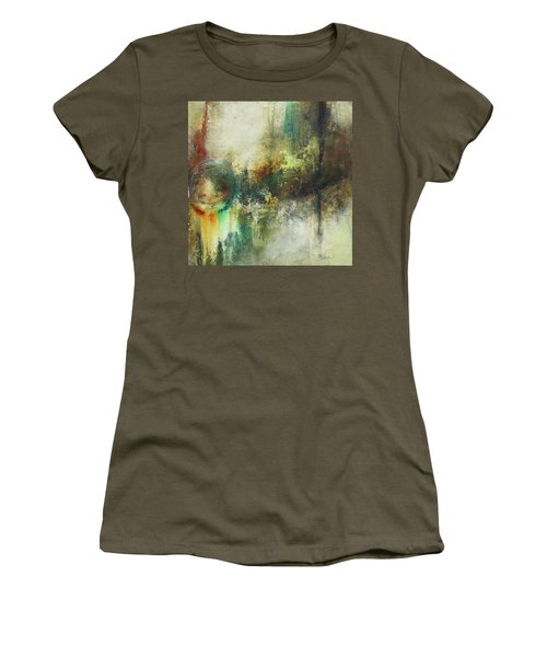 Abstract Art With Blue Green And Warm Tones Women's T-Shirt