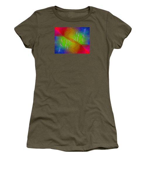 Women's T-Shirt (Junior Cut) featuring the digital art Abstract Cubed 355 by Tim Allen