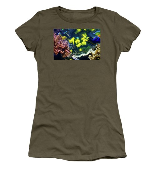 Abstract Dancing Colorful Ish Women's T-Shirt