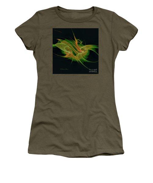 Women's T-Shirt (Junior Cut) featuring the digital art Abstract Ffz by Deborah Benoit