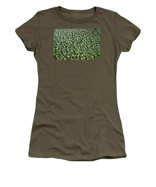 Women's T-Shirt (Junior Cut) featuring the photograph Abstract Lake Reflections by LeeAnn McLaneGoetz McLaneGoetzStudioLLCcom