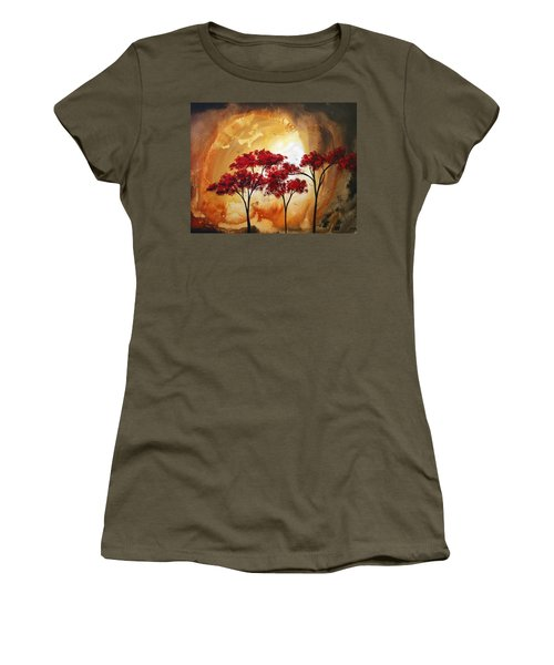 Abstract Landscape Painting Empty Nest 2 By Madart Women's T-Shirt
