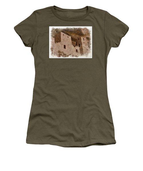 Women's T-Shirt (Junior Cut) featuring the photograph Abstract Mesa Verde by Debby Pueschel