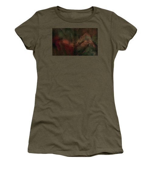 Women's T-Shirt (Junior Cut) featuring the painting Abstract Nude 4 by Jim Vance