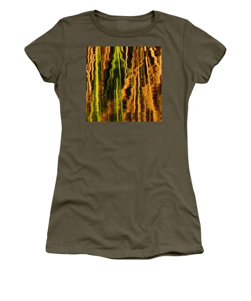 Abstract Reeds Triptych Middle Women's T-Shirt
