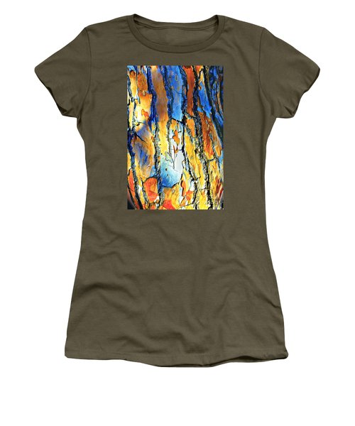 Abstract Saturated Tree Bark Women's T-Shirt