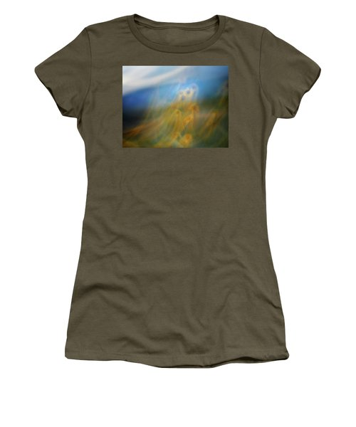Women's T-Shirt (Junior Cut) featuring the photograph Abstract Sunflowers by Marilyn Hunt