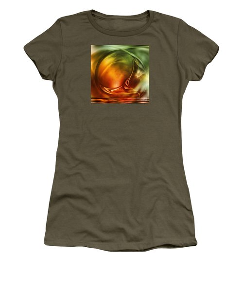 Women's T-Shirt (Junior Cut) featuring the digital art Abstract Whiskey by Johnny Hildingsson