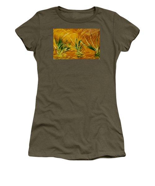 Abstract Yellow, Green Fields   Women's T-Shirt