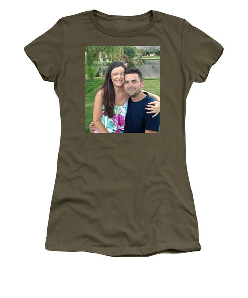Women's T-Shirt (Junior Cut) featuring the painting Adam And Lys by Michael Pickett
