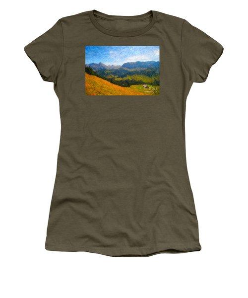 Adelboden Countryside Women's T-Shirt (Junior Cut) by Gerhardt Isringhaus
