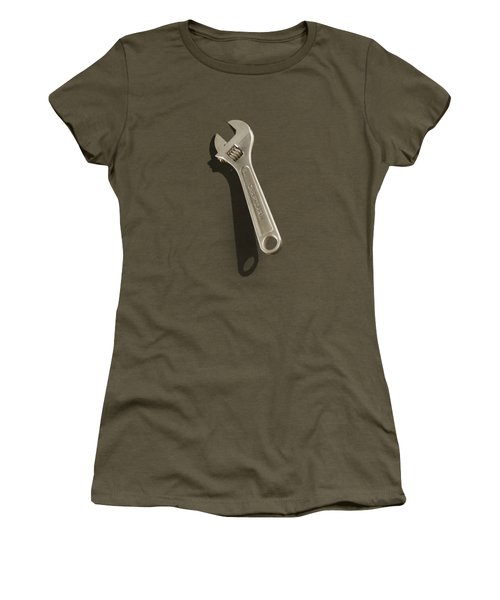 Adjustable Wrench Over Wood 72 Women's T-Shirt (Athletic Fit)