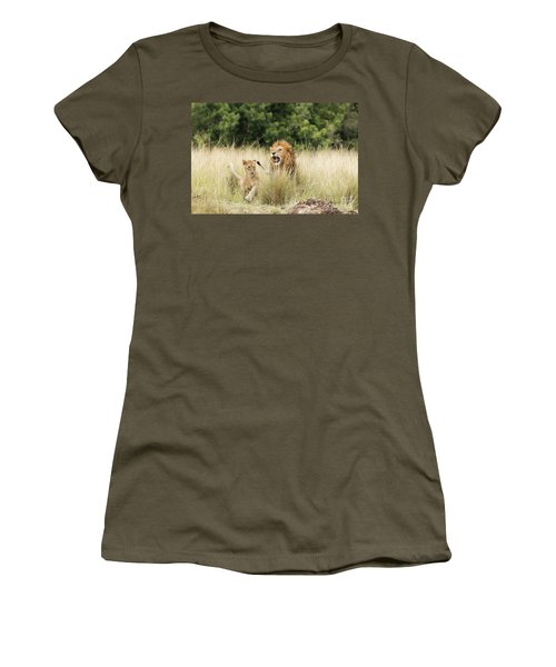 Adult Lion And Cub In The Masai Mara Women's T-Shirt