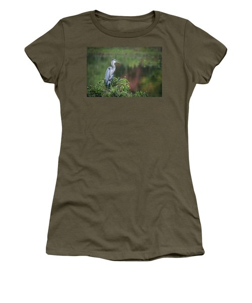 Advice From A Great Blue Heron Women's T-Shirt (Athletic Fit)