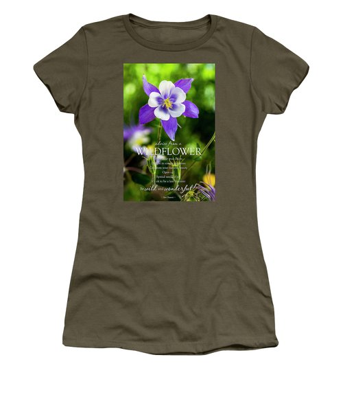 Advice From A Wildflower Columbine Women's T-Shirt (Junior Cut) by Teri Virbickis