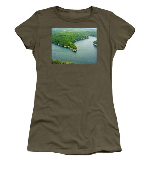 Aerial Image Of  Long Point Cliff Women's T-Shirt