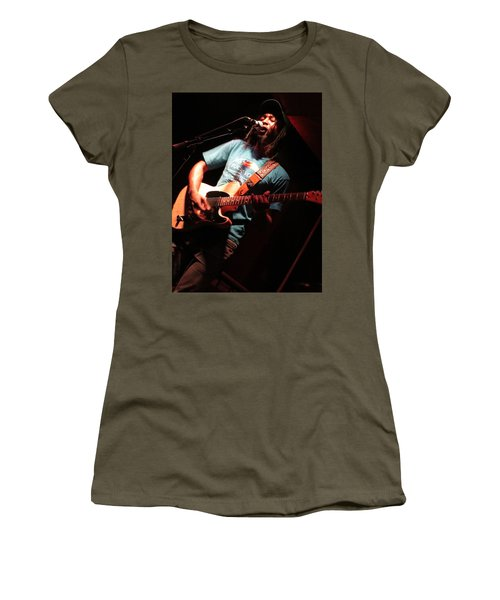 Women's T-Shirt (Athletic Fit) featuring the photograph African Americana Live by Aaron Martens