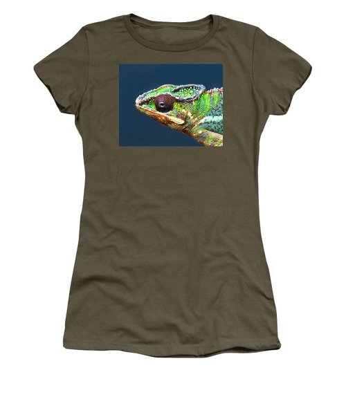 Women's T-Shirt featuring the photograph African Chameleon by Richard Goldman
