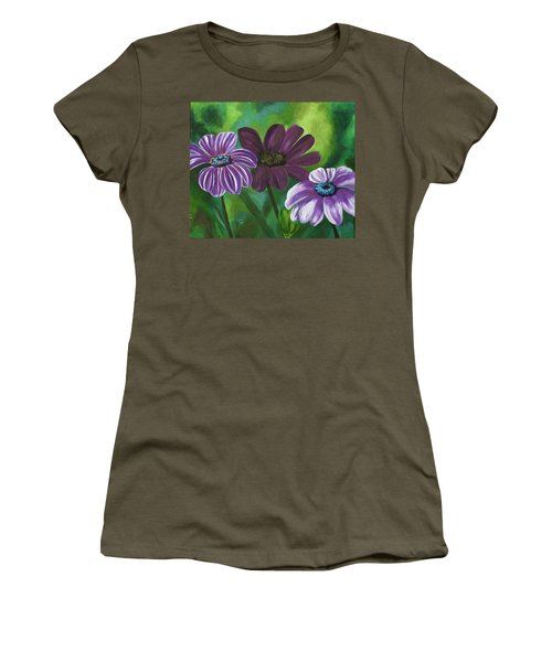 African Violets Women's T-Shirt (Athletic Fit)
