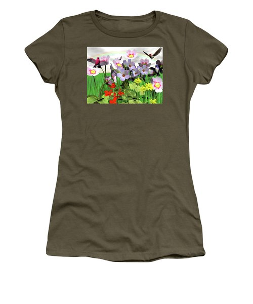 After The Rain Comes The Rainbow Women's T-Shirt (Junior Cut) by Michele Wilson