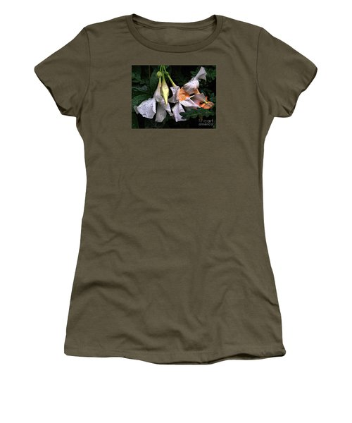 After The Rain - Flower Photography Women's T-Shirt (Junior Cut) by Miriam Danar