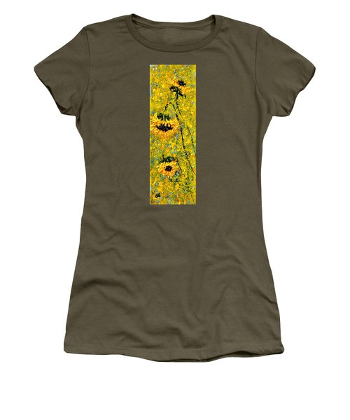Women's T-Shirt (Junior Cut) featuring the painting After The Rain  Vi by Cristina Mihailescu