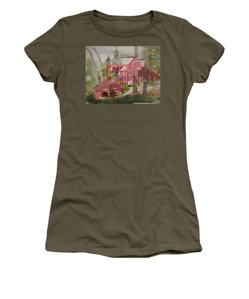 Women's T-Shirt (Junior Cut) featuring the painting Afternoon Shadows W403 by Kip DeVore