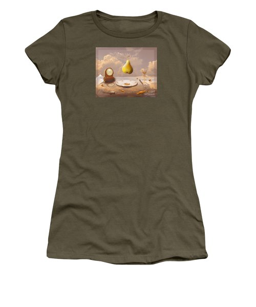 Women's T-Shirt (Junior Cut) featuring the drawing Afternoon Tea by Alexa Szlavics