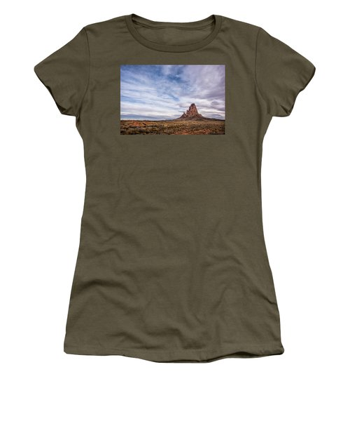 Women's T-Shirt (Junior Cut) featuring the photograph Agathla Wakes Up by Jon Glaser