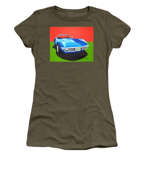 Air Force Vette Women's T-Shirt (Athletic Fit)