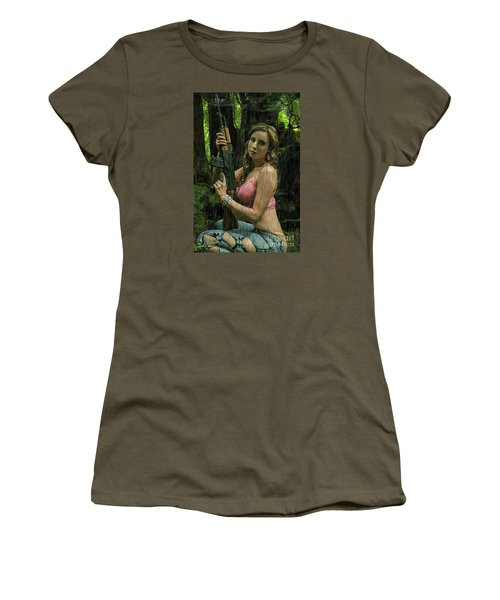 Ak47 In The Rain Women's T-Shirt (Athletic Fit)