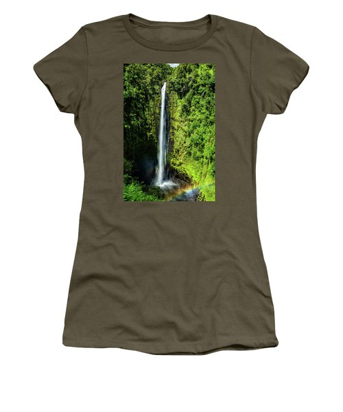 Akaka Falls With Rainbow Women's T-Shirt