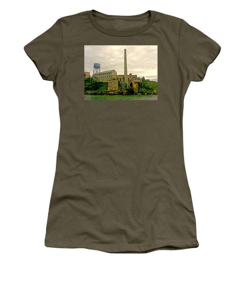 Alcatraz From The West Women's T-Shirt (Athletic Fit)