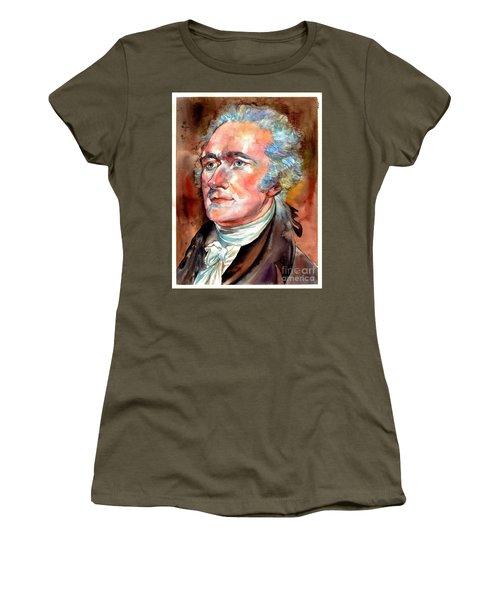 Alexander Hamilton Watercolor Women's T-Shirt (Athletic Fit)