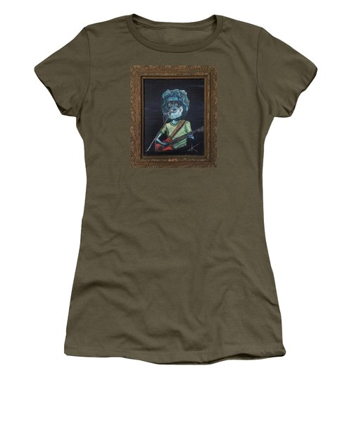 Women's T-Shirt (Junior Cut) featuring the painting Alien Jerry Garcia by Similar Alien