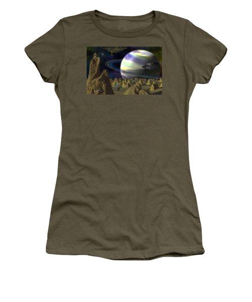 Alien Repose Women's T-Shirt (Athletic Fit)