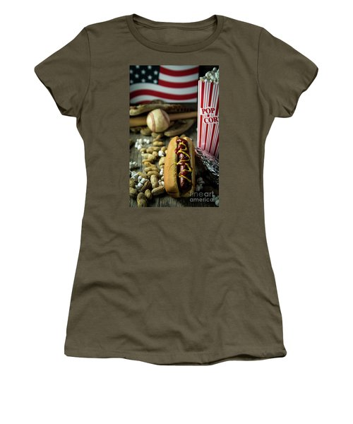All American Baseball  Women's T-Shirt (Athletic Fit)