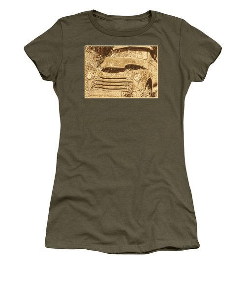 All Used Up Women's T-Shirt (Junior Cut) by Victor Montgomery