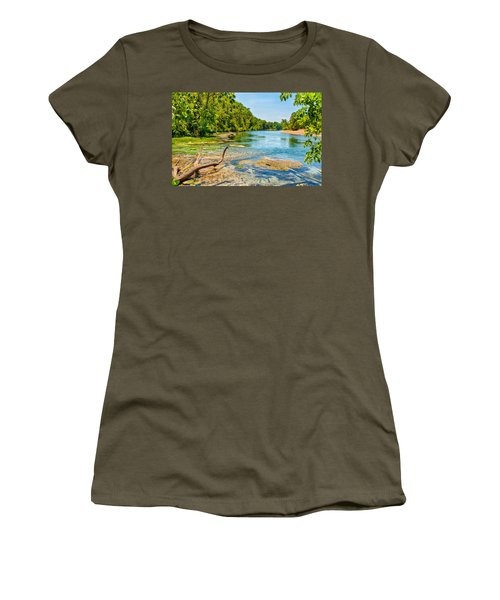 Women's T-Shirt (Junior Cut) featuring the photograph Alley Springs Scenic Bend by John M Bailey