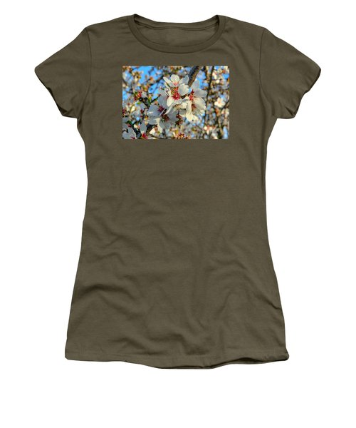 Almond Blossoms Women's T-Shirt (Athletic Fit)