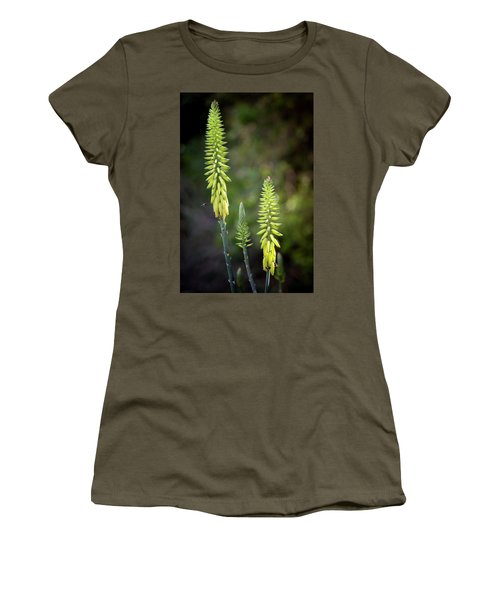 Women's T-Shirt (Athletic Fit) featuring the photograph Aloe Vera Blooms by Adam Romanowicz