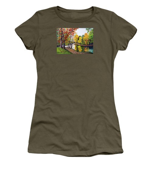 Along The Blanchard Women's T-Shirt (Junior Cut) by Nancy Cupp